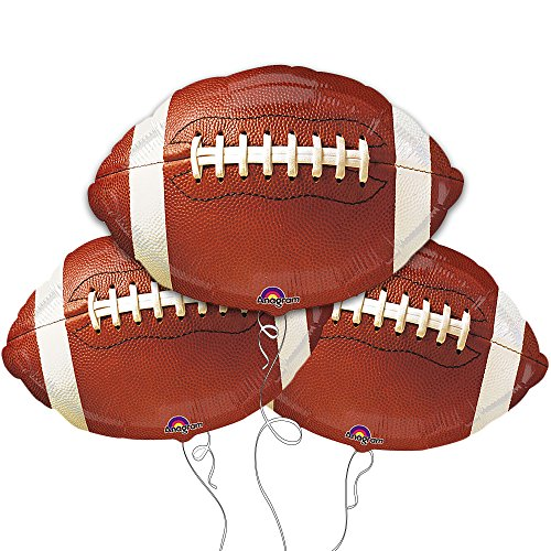 Football Shaped 18 inch Balloons - Package of 3