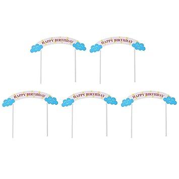 Amazon.com: BESTOYARD 5 piezas de adornos para tartas de ...