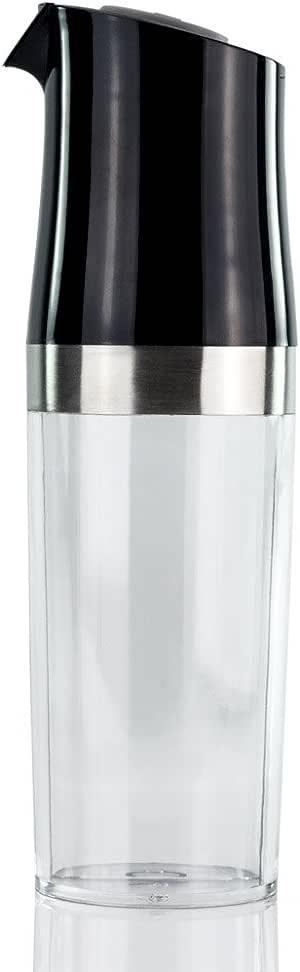 Aceitera vinagrera 2 en 1 para la cocina y la mesa – 2 compartimentos transparentes separados – dosificación fácil y limpia Gracia en los 2 pulsadores para el aceite y el vinagre: Amazon.es: Hogar