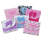 Daoroka Girl Cotton Diaper Sanitary Napkin Package Bag Storage Organizer (10.5X10.5 cm, Random)