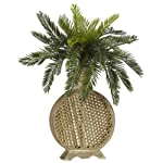 Nearly Natural 6663 Cycas with Vase Decorative Silk Plant, Green
