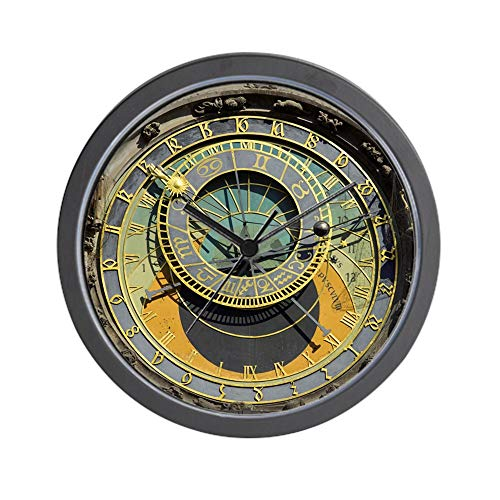 CafePress Prague Astronomical Clock Tower in Old Town Square Unique Decorative 10 Wall Clock