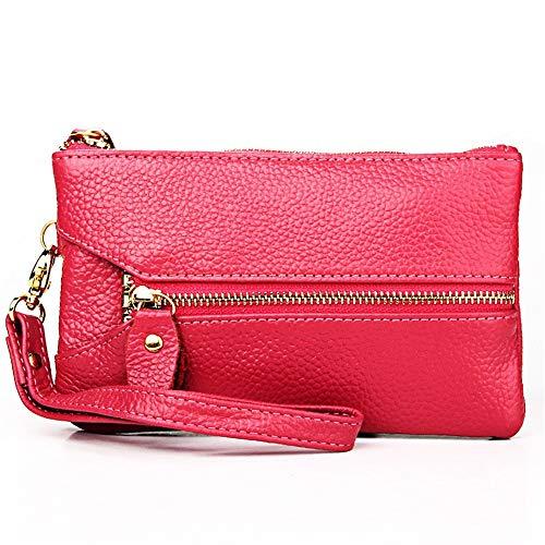 clés Portefeuille Rose Crochet Porte Et Zipper couleur Bag Orange Rouge Porte Classique En Madame monnaie Métal Sx6SrEw1q