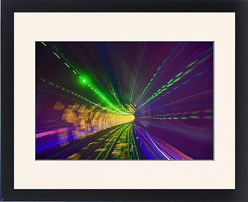 Framed Print of West Bund Sightseeing Tunnel, Huangpu District, Shanghai, China, Asia