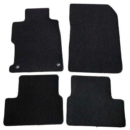 - Floor Mats Fits 2012-2013 Honda Civic Coupe   4 PCS Black Nylon Front Carpets Flooring Protection Interior By IKON MOTORSPORTS