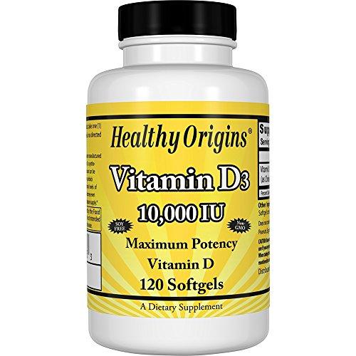HEALTHY ORIGINS VITAMIN D3 GELS,10,000IU, 120 SGEL, EA-1 -