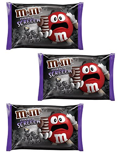 M&Ms Candy Limited Fall Flavor Cookies and Screeem, Three 8 Ounce Bags -