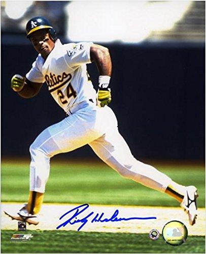 Autographs Henderson (Rickey Henderson Oakland Athletics Autographed 8