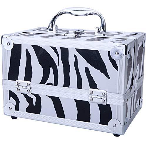 (Mikash Aluminum Makeup Train Jewelry Storage Box Cosmetic Lockable Case Organizer US | Model JWRLBX - 2215 |)