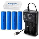 4pcs 18650 Batteries 3000mAh 3.7V Li-ion Rechargeable Battery - Best Reviews Guide