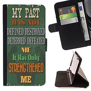 King Case - FOR HTC One M7 - Walls have ears - Prima caja de la PU billetera de cuero con ranuras para tarjetas, efectivo Compartimiento desmontable y correa para la mu?eca