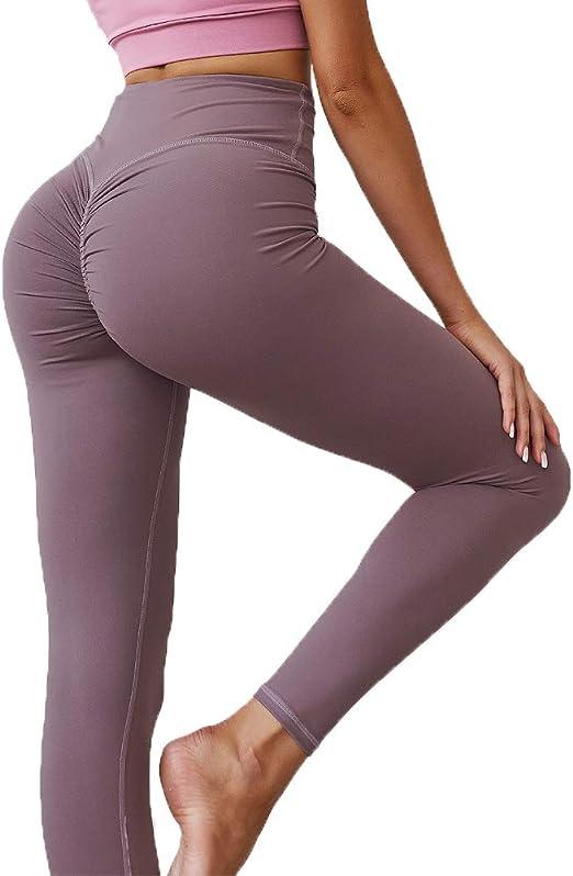 P&KK Leggings de Cintura Alta para Mujer Pantalones de Yoga Mallas ...