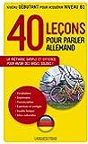 40 leçons pour parler allemand