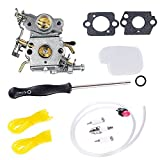 Podoy P3314 Carburetor 545070601 Air & Fuel Filter with Adjustment Tool Kit for Poulan P3416 P3816 P4018 PP3416 PP3516 PP3816 PP4018 PP4218 PPB3416 PPB4018 PPB4218 Gas Chainsaw Parts