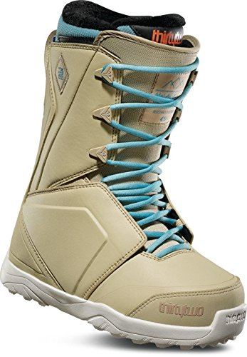 Blue Womens Snowboard Boots - ThirtyTwo Lashed Women's '18 Snowboard Boots, Tan/Blue, 10