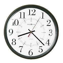 Howard Miller Automatic Alton Auto Daylight Savings Wall Clock, 14, Black (625323)