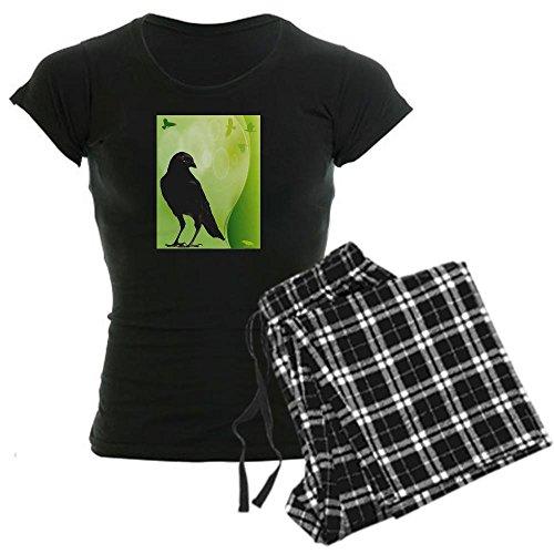 CafePress Green Crow Women's Dark Pajamas Womens Novelty Cotton Pajama Set, Comfortable PJ Sleepwear ()