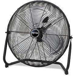 "Patton High Velocity Fan, Three-Speed, Black, 8.58""W x 22.83""H"