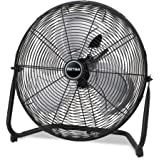 Patton High Velocity Fan, Three-Speed, Black, 8.58W x 22.83H