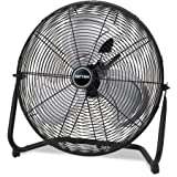 Patton High Velocity Fan, Three-Speed, Black, 8.58''W x 22.83''H
