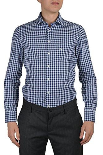 Etro Men's Multi-color Long Sleeve Dress Shirt US 15.5 IT 39 - Etro Cotton Blazer