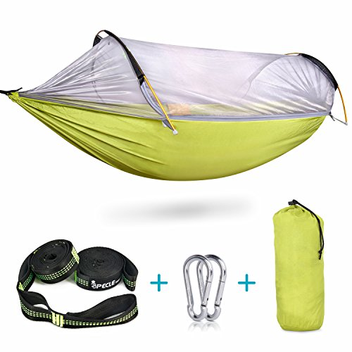 Sleeping Bags Popular Brand 260x140cm Portable Parachute Fabric Camping Hammock Hanging Bed With Mosquito Net Sleeping Hammock Outdoor Hamaca Warm And Windproof Camping & Hiking