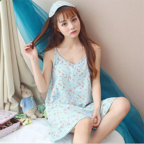 Zybnb Sezione Floreale In Estiva A Cotone Camicia Da Dolce Dolce La Notte Fresca Usura Sottile Coreano Cotone Giapponese Piccola OwqOR6rXU