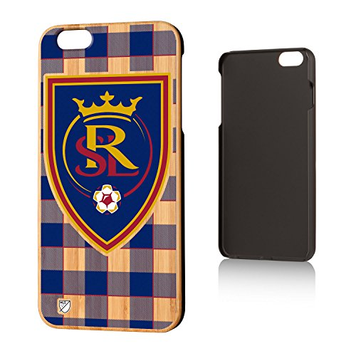 Keyscaper MLS Real Salt Lake Plaid Case for iPhone 6 Plus, Wood by Keyscaper