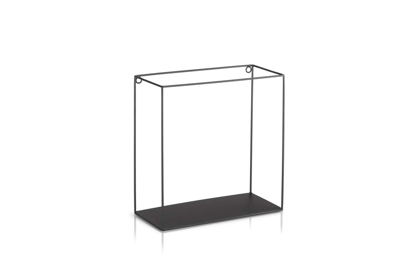 Schweberegal schwarz Metall Elegante Wanddeko Quadrat als B/ücherregale Belastbarkeit 3 kg K/üche LIFA LIVING 3er Set Wandregal im Industrie Design