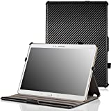 MoKo Samsung Galaxy Tab S 10.5 Case - Slim-Fit Multi-angle Folio Cover Case for Samsung Galaxy Tab S 10.5 Inch Android Tablet, Carbon Fiber BLACK (With Smart Cover Auto Wake / Sleep)