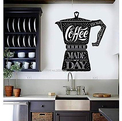 Amazon com: Gabriel Bloor Coffee Maker Quote Vinyl Wall