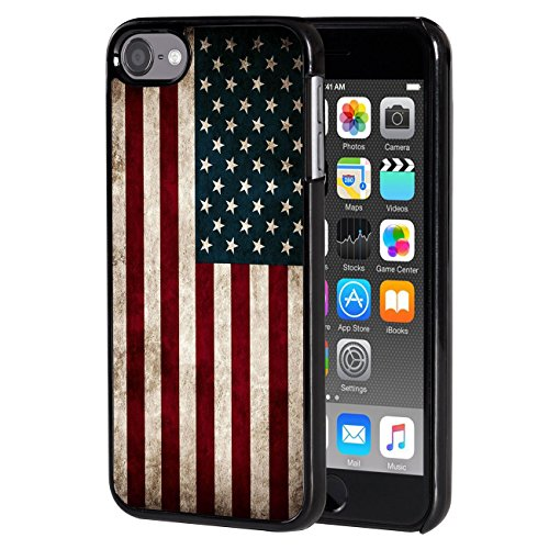 (iPod Touch 6 case,AIRWEE Slim Back Cover Hard Plastic Protector Case Stylish Design for Apple iPod Touch 6th Generation - American Flag)