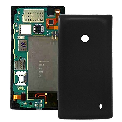 iPartsBuy Plastic Replacement Battery Back Housing Cover for Nokia Lumia 520(Black) (Nokia Lumia 520 Back Cover)