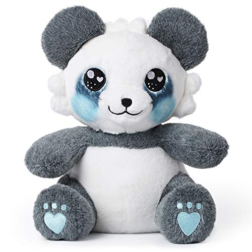 corimori 1849 - Stuffed Toy Cuddly Plush Animal for Babies, Toddlers, 26cm, Mei The Panda, Blue, White, Grey