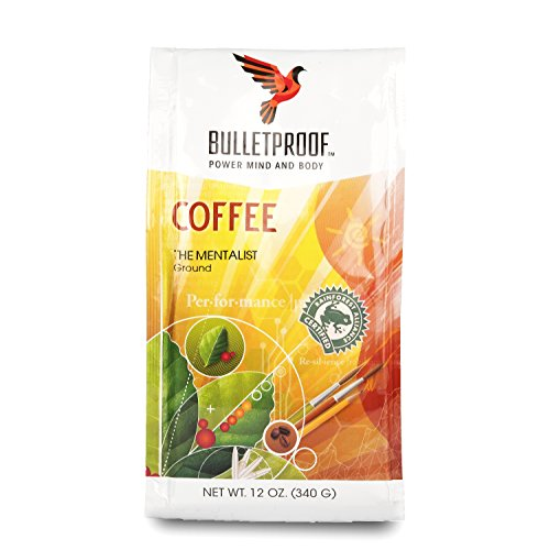 Bulletproof The Mentalist Brunette Roast Ground Coffee, Dark Cocoa and Vanilla Aromatics with Cherry Sweetness (12 Ounces)
