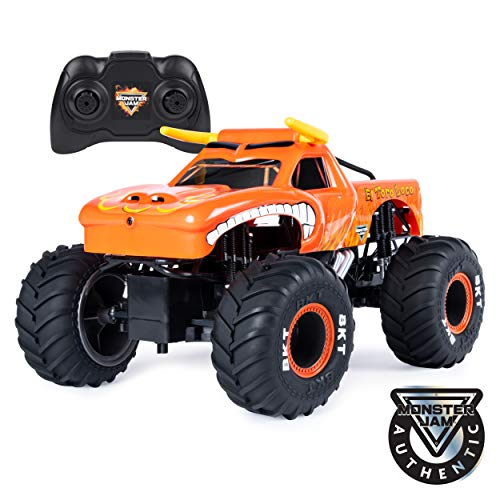 Monster Jam Official El Toro Loco Remote Control Monster Truck, 1:15 Scale, 2.4 GHz (Best Remote Control Toy For 4 Year Old)