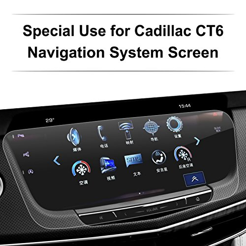 LFOTPP 2015-2017 Cadillac CT6 Car Navigation Screen Protector, [9H] Tempered Glass Infotainment Screen Center Touch Screen Protector Anti Scratch High Clarity