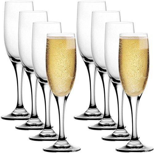 (Stolzle Pack Lead-Free Crystal 6.5oz Adela Champagne Flute Wine Glasses Set Germany)