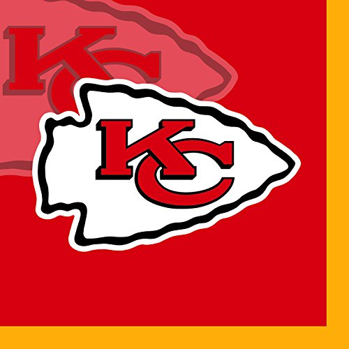 Creative Converting 16 Count Kansas City Chiefs Beverage Napkins ()