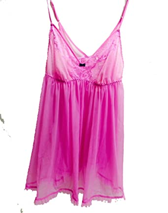 44b30a1497 Image Unavailable. Image not available for. Color  Victoria s Secret  Women s Dream Angels Ruffle Trim Flyaway Babydoll ...