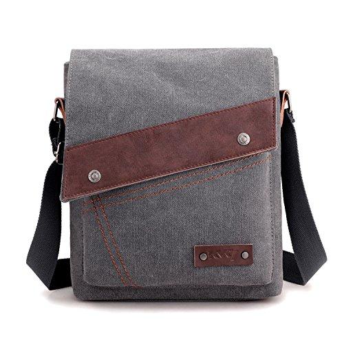 Messenger Bolsa Libro Bolsa para Lateral Tableta Bolso Bolsa Viaje Bolsas Foino de Vintage Bag Gris Escolares Bandolera Hombre de Deporte TwSnqfO6