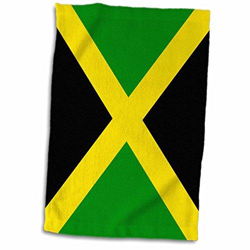 3D Rose Jamaican Flag Towel, 15 x 22 (Jamaican Beach Towel)