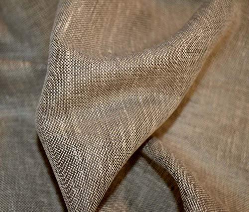 Aura Flint Grey Semi Sheer Drapery Kaufmann Fabric