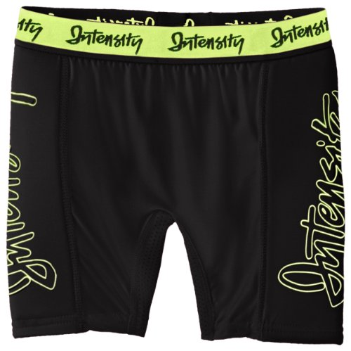 Intensity Girl's Low Rise Slider Softball Shorts, X-Large, Black Optic Yellow