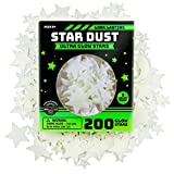 Ultra Brighter Glow in the Dark Stars; Special Deal 200 Count w/ Bonus Moon, Amazing for Children and Toddler Decorations Wall Stickers for Boys! FREE Constellation Guide