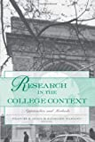 Research in the College Context, , 0415935792