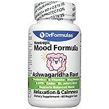 DrFormulas Mood Boost Probiotics with Stress B Complex Vitamins for Women, Teens Kids, Men | Nexabiotic Supplement with Ashwagandha Capsules, St Johns Wort, Serotonin 5 HTP, GABA for Anxiety, 60 Count