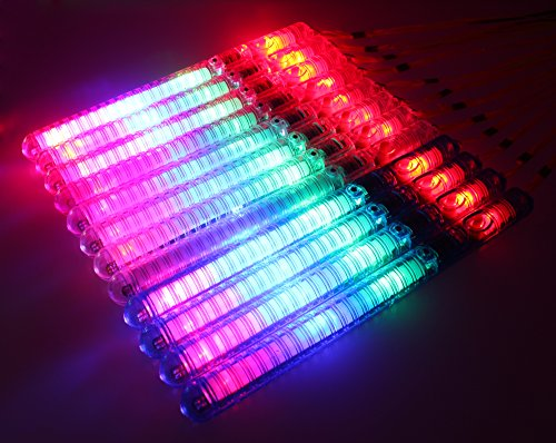 12 Pack of Colorful Flashing LED 7 Modes Light Up Toy Wand Stick for Parties, Events, Functions, Celebrations