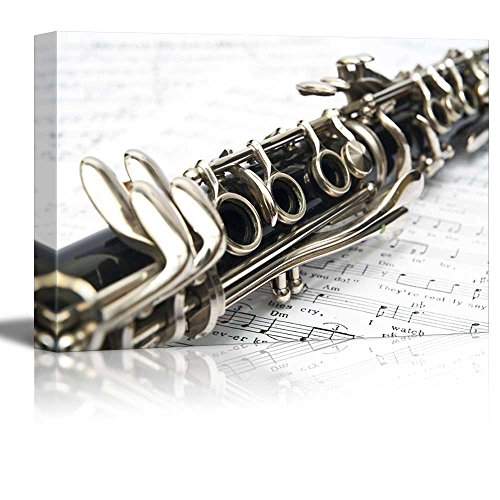- wall26 - Canvas Prints Wall Art - Clarinet Close-up | Modern Wall Decor/Home Decoration Stretched Gallery Canvas Wrap Giclee Print. Ready to Hang - 16