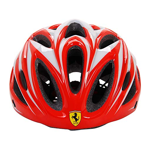 Ferrari Youth Bike Helmet Lightweight for Road and Mountain (red)